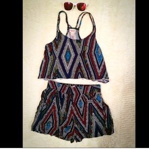 Other - tribal shorts and top set
